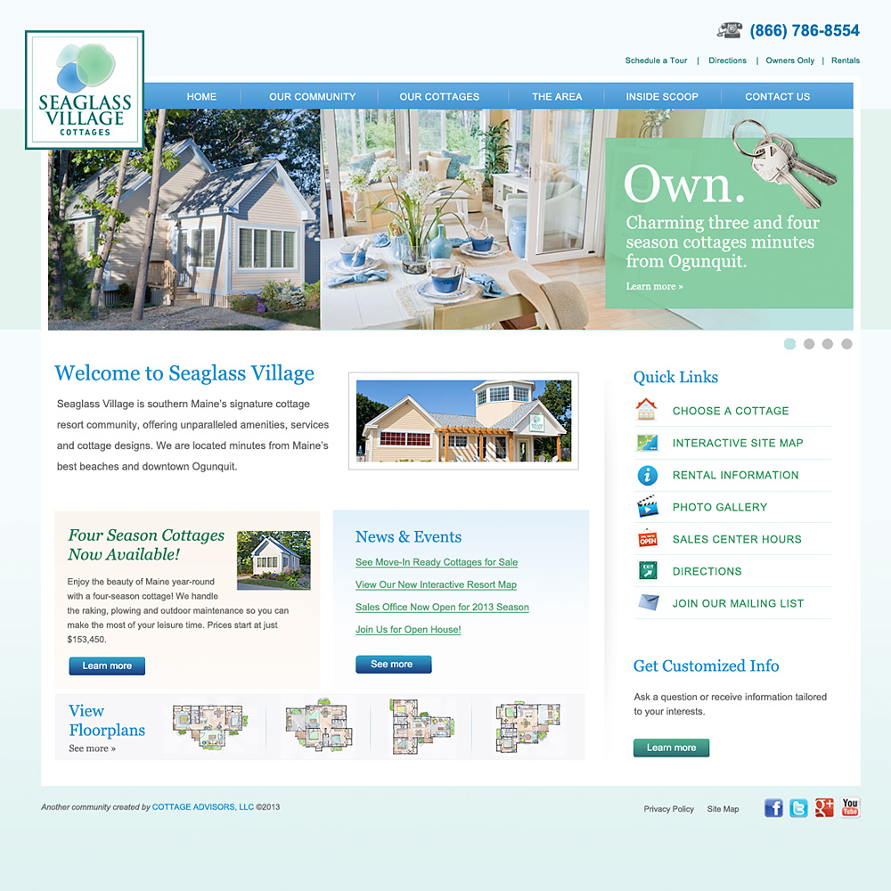 Radar Marketing Group - NH - Web Design - Seaglass Village