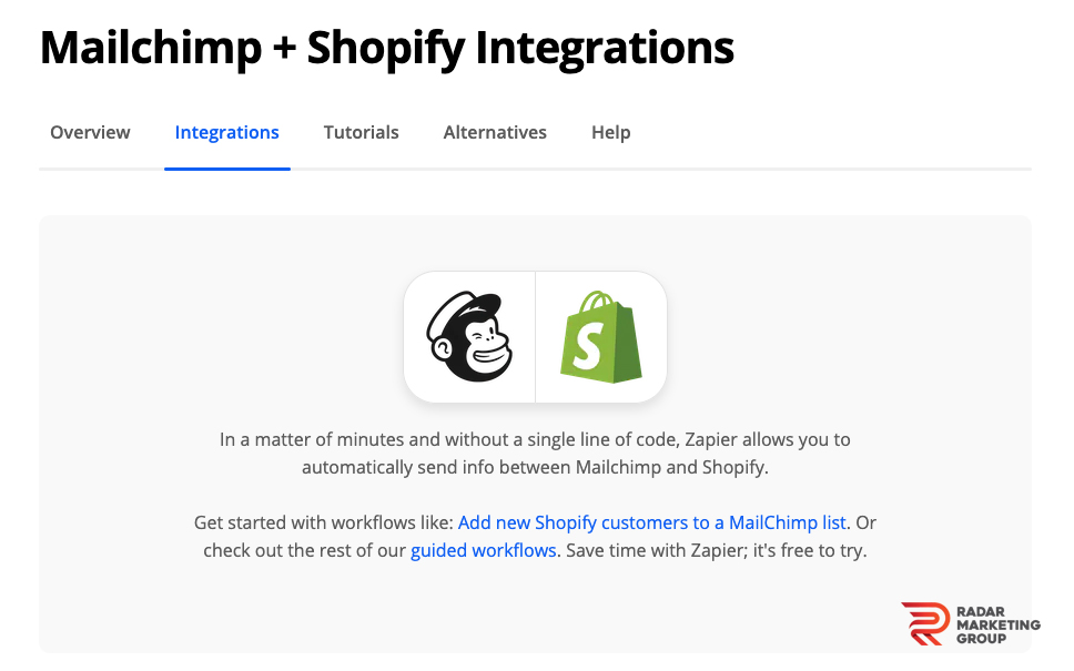 Mailchimp and Shopify Integrations