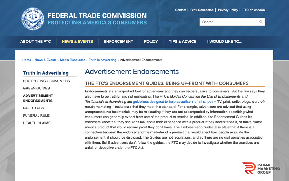 FTC Guidelines