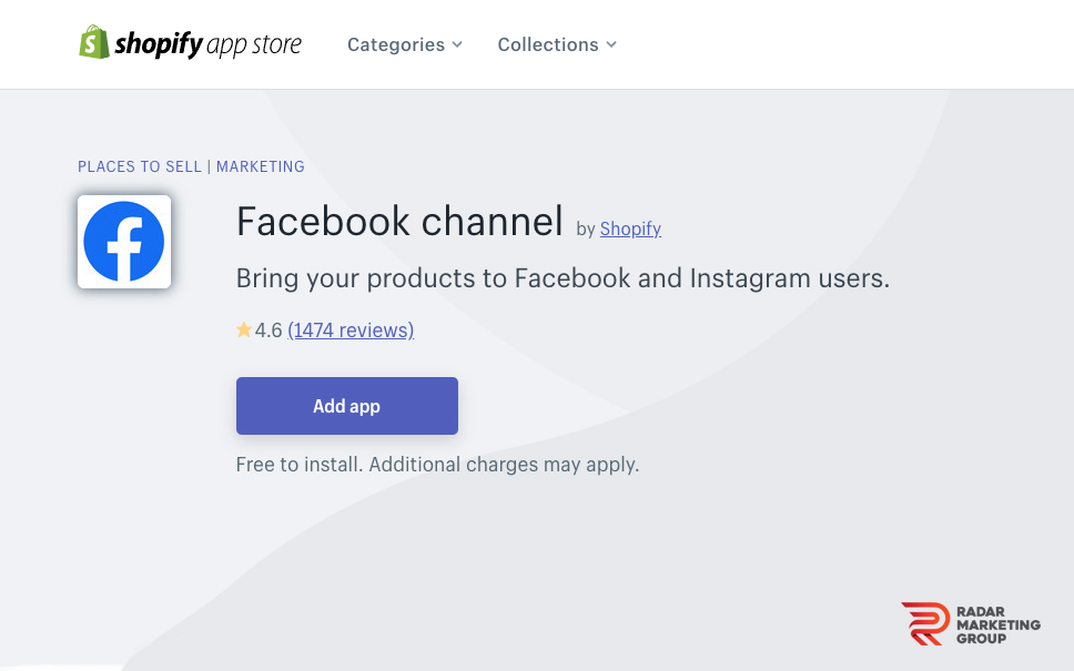 Facebook Channel Shopify App
