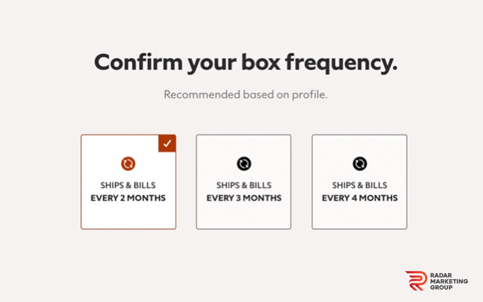 Confirm Box Frequency